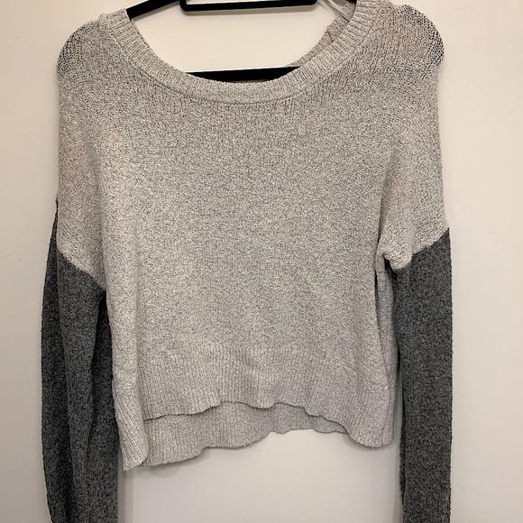 Ruby moon light and dark grey sweater